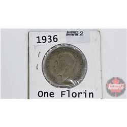 UK One Florin - George V : 1936