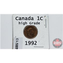 Canada One Cent : 1992