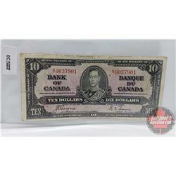 Canada $10 Bill 1937 : Coyne/Towers S/N#BT0037901