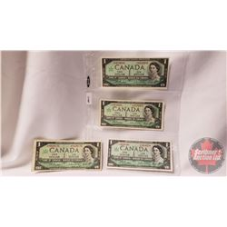 Canada $1 Bills 1867-1967 - Group of 4 : Beattie/Rasminsky