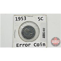 Canada Five Cent 1853 (Error / Damage ?)