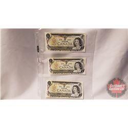 Canada $1 Bills (3 Sequential) : Crow/Bouey BCN0746795/796/797