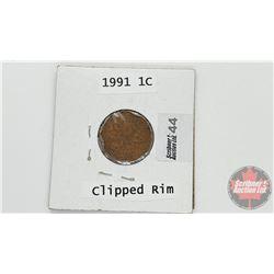 Canada One Cent 1991 (Clipped Rim)