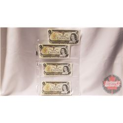 Canada $1 Bills (4 Sequential) : Crow/Bouey BAT3029035/036/037/038