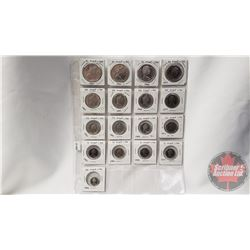 Canada Coins - Proof Like (17 Coins) : One Dollar (4) ; Fifty Cent (4); Twenty Five Cent (4); Ten Ce