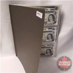 Canada $1 Bills 1973 (Variety 24 Bills)