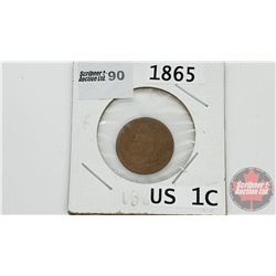 US One Cent 1865