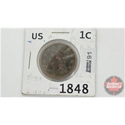 US One Cent 1848