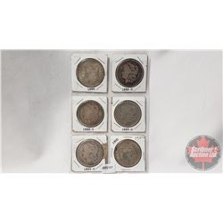 US Morgan Dollars (6): 1886; 1886O; 1888O; 1889O; 1899O; 1900