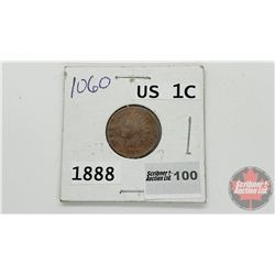 US One Cent 1888