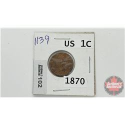 US One Cent 1870
