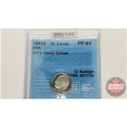 US Ten Cent 1982S (CCCS Cert : PF-68)
