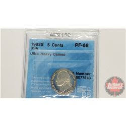 US Five Cent 1982S (CCCS Cert : PF-68)