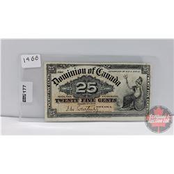 "Dominion of Canada ""Shinplaster"" Twenty Five Cent : 1900"