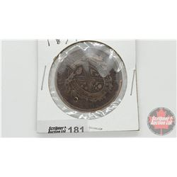 One Penny 1837 Bank Token Province du bas Canada