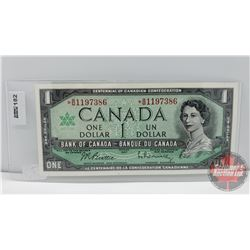 Canada $1 Bill 1967 *Replacement : Beattie/Rasminsky S/N#*BM1197386