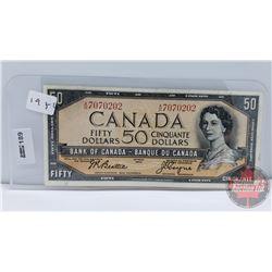 Canada $50 Bill 1954 : Beattie/Coyne S/N#AH7070202