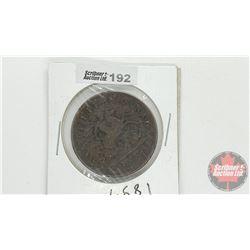 Bank of Upper Canada 1857 One Penny Bank Token