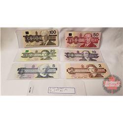 Canada Bird Series Bills (6) : $2; $5; $10; $20; $50; $100 (See Pics)