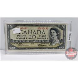 Canada $20 Bill 1954DF : Beattie/Coyne #CE9489482