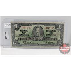 Bank of Canada $1 Bill 1937 : Gordon/Towers YL6575717