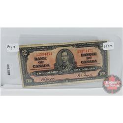 Bank of Canada $2 Bill 1937 : Gordon/Towers KB3554471