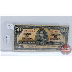 Bank of Canada $50 Bill 1937 : Gordon/Towers BH2958864