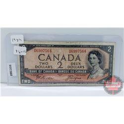 Canada $2 Bill 1954DF : Beattie/Coyne HB6997564