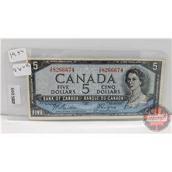 Canada $5 Bill 1954DF : Beattie/Coyne IC8266674
