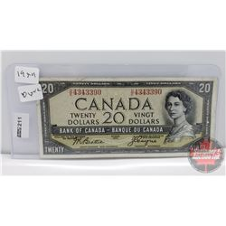 Canada $20 Bill 1954DF : Beattie/Coyne DE4343390