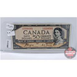 Canada $50 Bill 1954DF : Coyne/Towers AH1339501