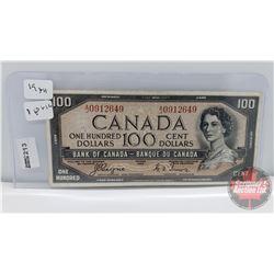 Canada $100 Bill 1954DF : Coyne/Towers AJ0912649