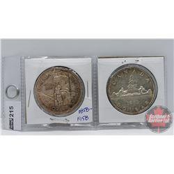 Canada Silver Dollars (2): 1958; 1959