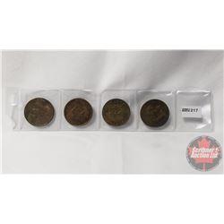 Shell Canada Provincial Tokens (4): Manitoba, Ontario, Alberta, Newfoundland