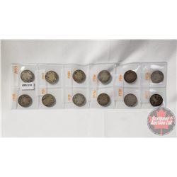 Canada Twenty Five Cent (12): 1918; 1933; 1920; 1919; 1931; 1934; 1936; 1936; 1934; 1910; 19??; 1912