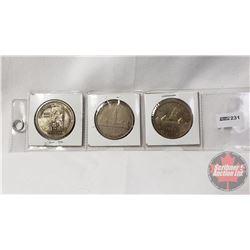 Canada Silver Dollars (3): 1958; 1939; 1959