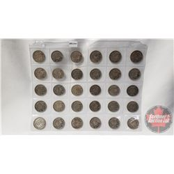 Canada Fifty Cent (30): 1940(5); 1941(5); 1942(5); 1943(5); 1945(5); 1950(5)