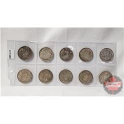 Canada Fifty Cent (10): 1940; 1941; 1943; 1945; 1950; 1956; 1958; 1960; 1964; 1965