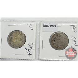Canada Twenty Five Cent (2): 1900; 1910