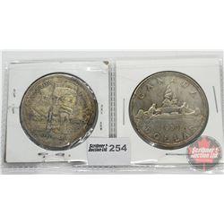 Canada Silver Dollars (2): 1958; 1953