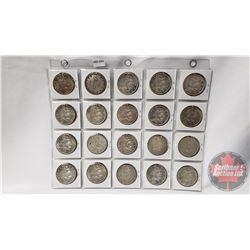 Canada Silver Dollars (20): 1962(4); 1963(16)