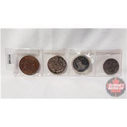 Coins/Tokens (4): Apollo 11; Canada Commemorative Dollars 1968; Edmonton Commonwealth Games 1978; Ca