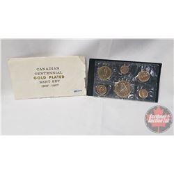 Canadian Centennial GOLD PLATED Mint Set 1867-1967