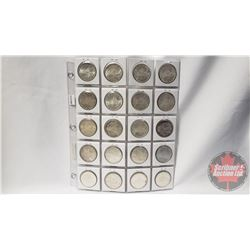 Canada Silver Dollars - Sheet of 20: 1965(7); 1966(13)