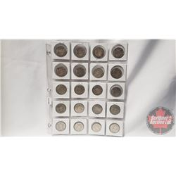 Canada Fifty Cent - Sheet of 20: 1944(2); 1950; 1951(8); 1953; 1955; 1956(7)