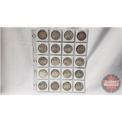 Canada Silver Dollars - Sheet of 20: 1966