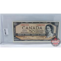 Canada $50 Bill 1954 : Beattie/Rasminsky BH4442583