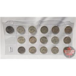 US Fifty Cent (16) : 1964(4); 1967(4); 1968(4); 1969(2); 1971; 1974
