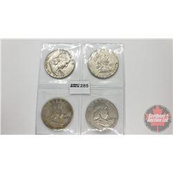 US Half Dollar (4): 1957; 1961; 1949; 1954
