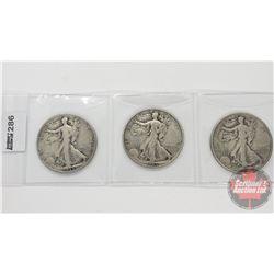 US Half Dollar (3): 1935; 1941; 1945